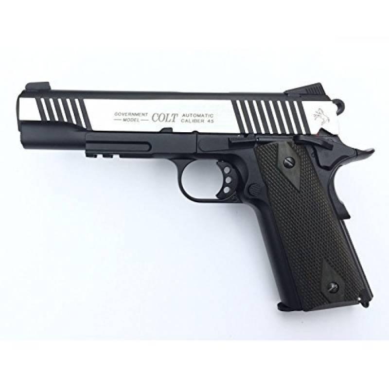 Cybergun Colt 1911 Rail Gun 2 tons Co2 Réplique puissance 0.5 joules de la marque CyberGun TOP 7 image 0 produit