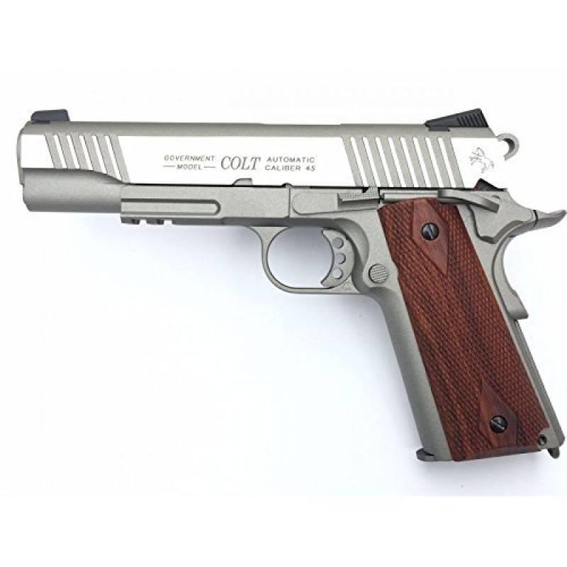 Cybergun Colt 1911 Rail Gun Stainless Co2 Réplique puissance 0.5 joules de la marque CyberGun TOP 9 image 0 produit