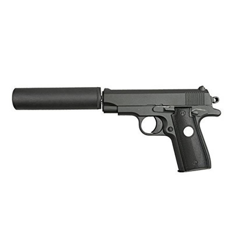 Mini Colt M1911 à Ressort Fourni avec son silencieux Culasse Metal 0.5 Joules de la marque Galaxy TOP 3 image 0 produit