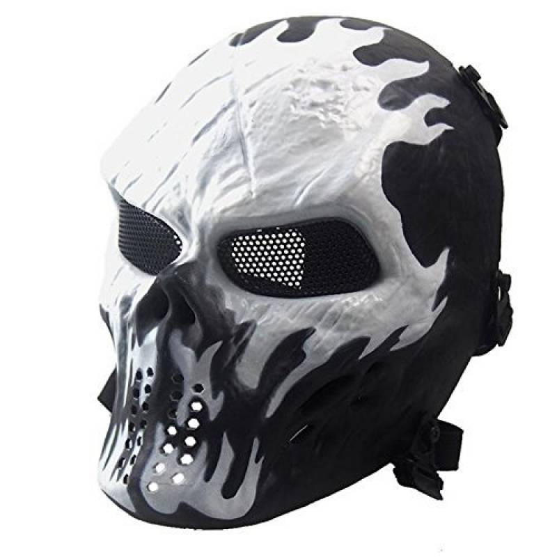Airsoft Paintball masque de masque de squelette CS de visage plein, militaire tactique pour la partie(Blanc) de la marque Fami Toy Ville TOP 10 image 0 produit