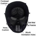 Airsoft Paintball masque de masque de squelette CS de visage plein, militaire tactique pour la partie(Blanc) de la marque Fami Toy Ville TOP 10 image 2 produit