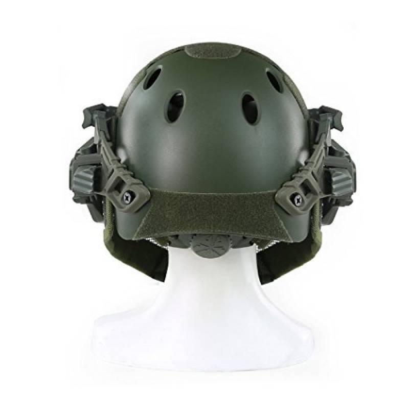 BBYaki Soft Airsoft Tactical Mich 2000 Casque Militaire Force Paintball avec Masque Anti-Rouille Transparent Masque CS Jeu Casque Rapide Lunettes de Protection et Barri/ères Lat/érales NVG