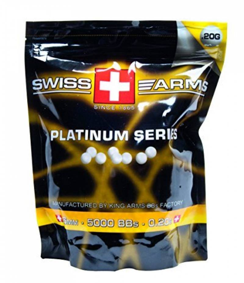 Billes king arms platinum 0.20G 6mm Sachet de 5000 billes de la marque Swiss Arms TOP 2 image 0 produit