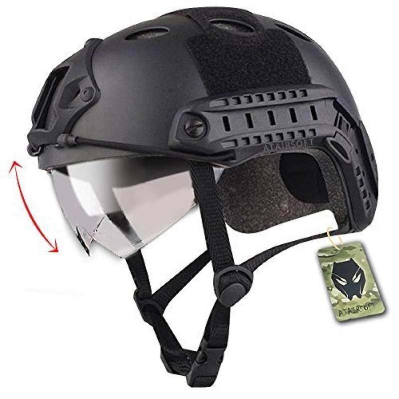 Emerson Casque Fast PJ de type SWAT avec lunettes de protection pour combat rapproché/tir/airsoft/paintball Noir de la marque Emerson TOP 15 image 0 produit