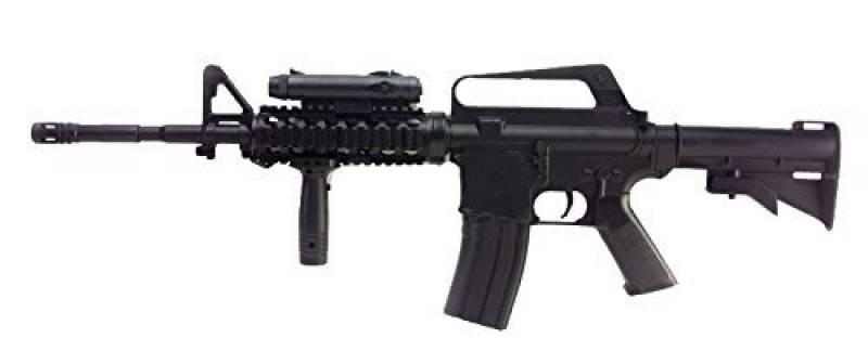 FUSIL D'ASSAUT A BILLES M16A4 M4 RIS SPRING HOP UP 0.5 JOULE WELL AC80011 AIRSOFT REPLIQUE COLT de la marque Double Eagle TOP 13 image 0 produit