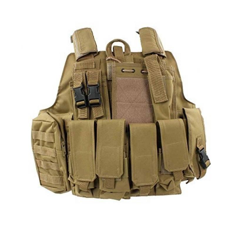 Mil-Tec Coyote Tan Gilet de combat MOLLE Style militaire de la marque Miltec TOP 10 image 0 produit