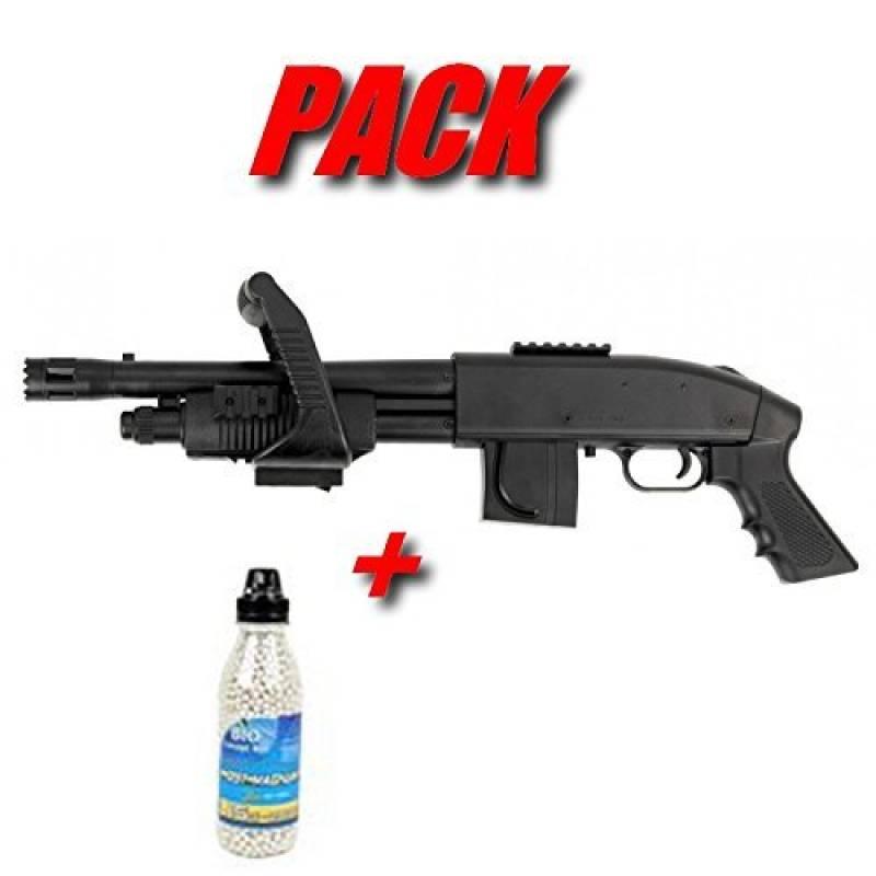 Pack De Noel Cadeau Airsoft Cybergun Mossberg M590 Chainsaw Fusil A Pompe A Bille Avec Bouteille de 2800 Billes De 0.15gr (Puissance 0.5 joule) de la marque CyberGun TOP 12 image 0 produit