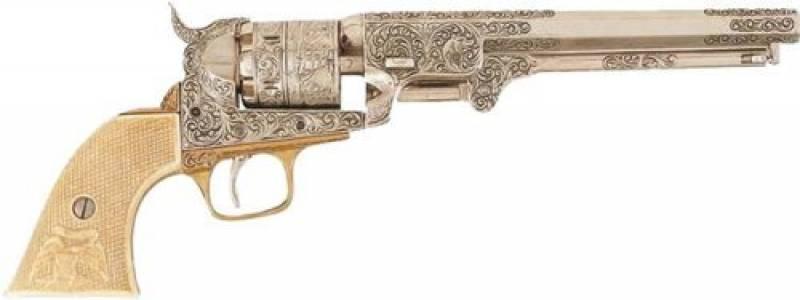 REVOLVER MARINE USA 1851 METAL ARGENT OR ET BLANC AVEC GACHETTE de la marque Denix TOP 8 image 0 produit