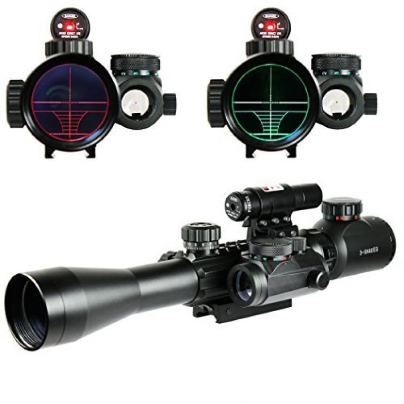 Spike Lunettes de visée Airsoft 3-9X40EG Illuminated Chasse Rouge / Vert Riflescope laser holographique avec Dot Sight Combo viseur d'arme de la marque Spike TOP 6 image 0 produit