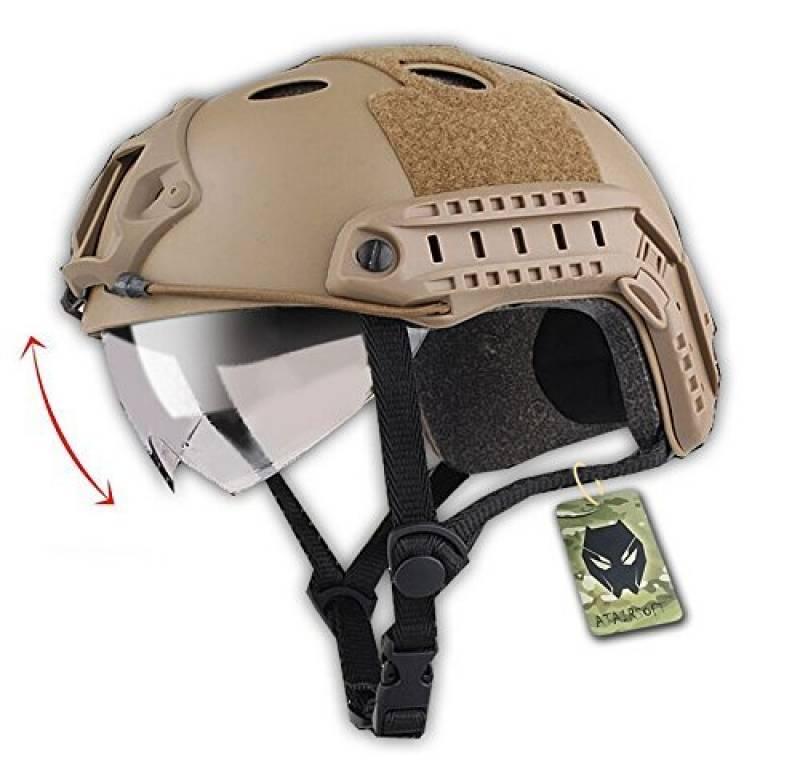 Tactique SWAT style militaire de l'armée Type de PJ de Casque Combat rapide DE avec lunettes pour CQB Tir Airsoft Paintball de la marque Emerson TOP 12 image 0 produit