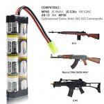 [UL and CE Certification] Keenstone Mini batterie NiMH 1600 mAh + mini connecteur Tamiya de haute performance pour fusil à air comprimé de la marque keenstone TOP 2 image 2 produit