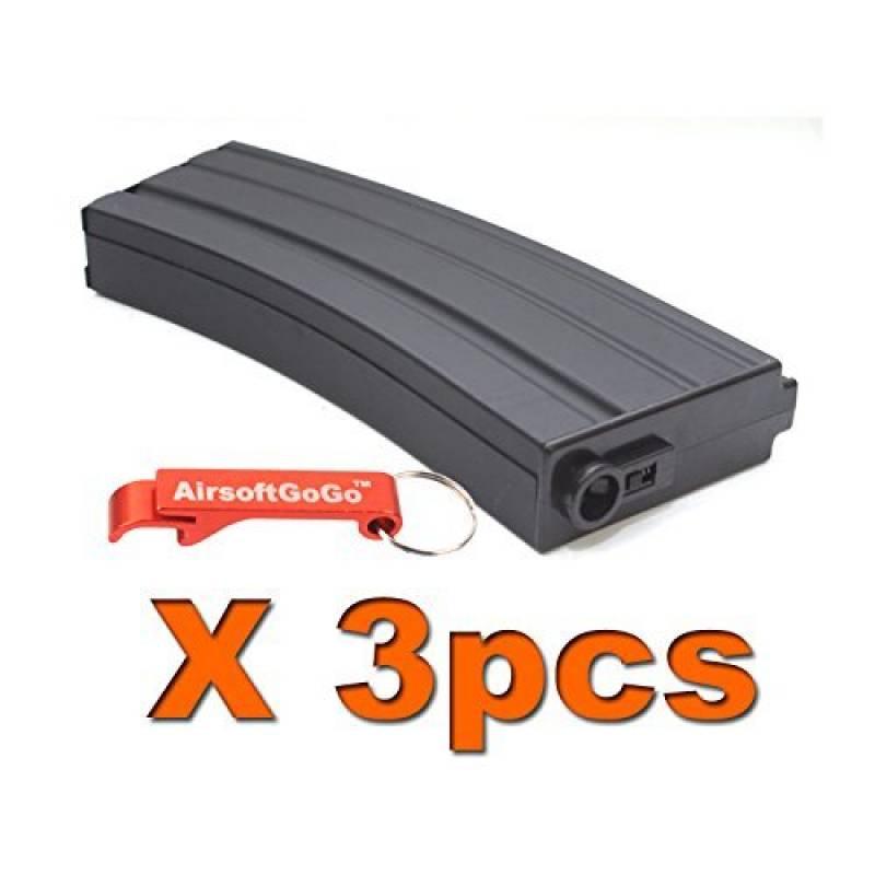 3X CYMA M4 190rds Mid-Cap AEG Chargeur pour Airsoft Marui G&P ICS Cybergun CYMA [pour Airsoft uniquement] de la marque AirsoftGoGo TOP 1 image 0 produit