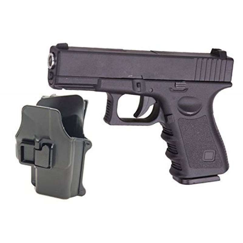 Airsoft Galaxy Type Glock G17 / G19 Noir Full Metal Ressort Full Metal à Ressort + Holster Rigide retention active Rechargement Manuel (0.4 joule) de la marque TOP 1 image 0 produit