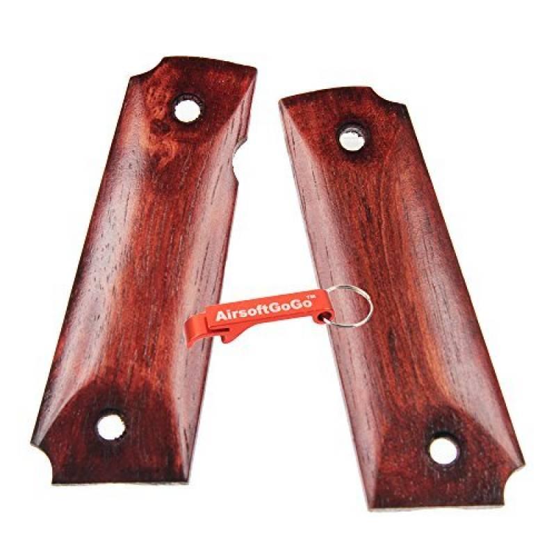 BELL Poignées en bois Cover Set pour Marui BELL, KJ, WE 1911 Airsoft GBB - AirsoftGoGo Porte-clés Inclus de la marque Bell TOP 8 image 0 produit