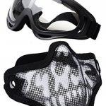 Coofit Demi Masque Outdoor 2Set maille inox et lunettes de protection de la marque Coofit TOP 5 image 0 produit