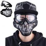 Coofit Demi Masque Outdoor 2Set maille inox et lunettes de protection de la marque Coofit TOP 5 image 1 produit