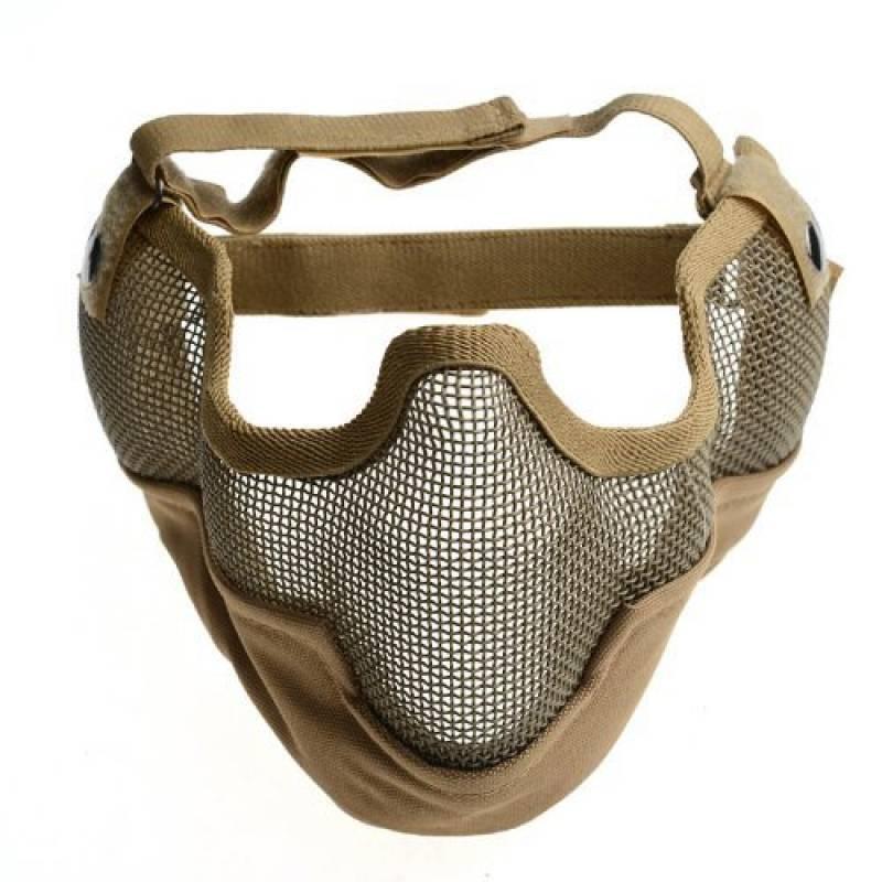 Fancymall-Mask Generic Tactical Airsoft CS Masque de protection en cotte de maille, brun de la marque Fancymall-Mask TOP 2 image 0 produit