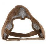 Fancymall-Mask Generic Tactical Airsoft CS Masque de protection en cotte de maille, brun de la marque Fancymall-Mask TOP 2 image 1 produit