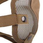 Fancymall-Mask Generic Tactical Airsoft CS Masque de protection en cotte de maille, brun de la marque Fancymall-Mask TOP 2 image 2 produit