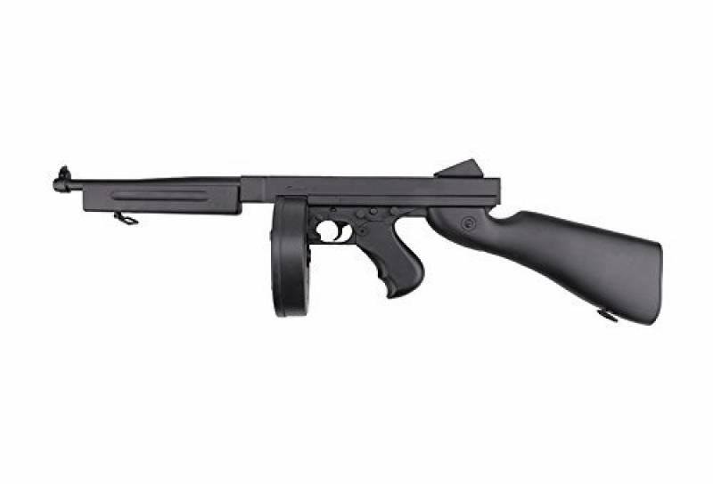 FUSIL AIRSOFT D98 Style Tommy gun M1A1 Noir Well- ELECTRIQUE 0.5 JOULE SEMI ET FULL AUTO de la marque well TOP 6 image 0 produit