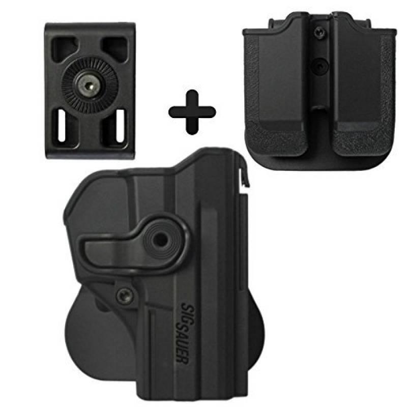 IMI Defense Kit tactique caché portez ROTO rotation étui de revolver tournat holster + Porte-Chargeur Double + clip ceinture de fixation pour Sig Sauer SP2022/S TOP 7 image 0 produit
