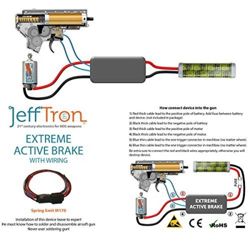 Jefftron Airsoft Mosfet With Extreme Active Breaking Power Control 16 Awg Wire de la marque JeffTron TOP 14 image 0 produit