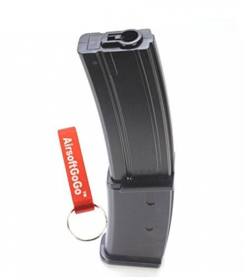 MAG 100rds MP7 Chargeur pour Airsoft Marui Standard / WELL R4 AEP Black [pour Airsoft uniquement] de la marque AirsoftGoGo TOP 13 image 0 produit