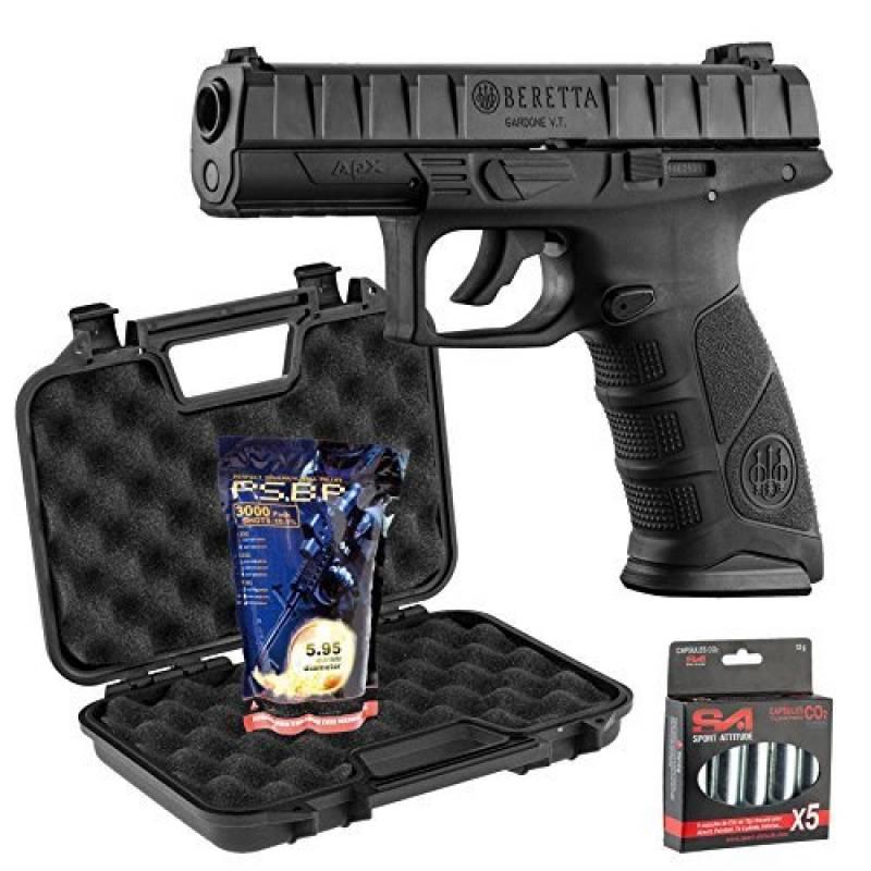 Pack Beretta Apx 0,5J - CO2 + mallette Noire + 5 capsules de CO2 + 3000 billes 0,25g G&G de la marque Beretta TOP 6 image 0 produit