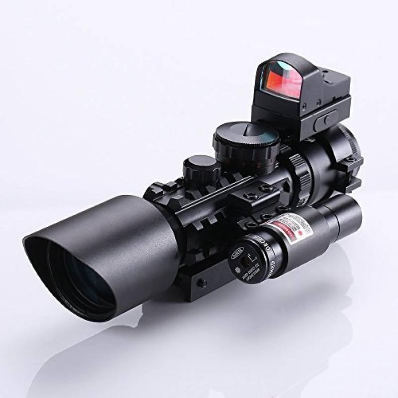 Spike Lunettes de visée Fusil tactique 3-10X42 Portée w / Laser Rouge et Vert Holographic / Red Dot Sight Combo Airsoft Gun Arme Sight Chasse de la marque Spike TOP 7 image 0 produit