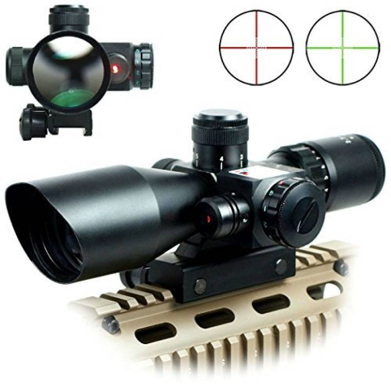 Spike Lunettes de visée Optique de Rifle 2.5-10x40ER Chasse Rouge / Vert Riflescope laser avec Red Dot Champ Combo Airsoft Gun Arme Sight de la marque IRON JIA' TOP 13 image 0 produit