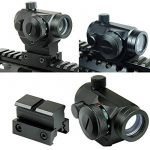 Spike Lunettes de visée Tactical Reflex Red Green Dot Sight Portée w / Dual High / Low Profile Rail Mount Airsoft Chasse de la marque Spike TOP 2 image 0 produit