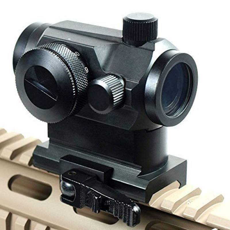 Spike sortie tactique holographique Micro T-1 1x24 Red & Green Dot Scope Lunette noire avec Rifle Mont Riser Chasse de la marque Spike TOP 14 image 0 produit