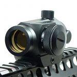 Spike sortie tactique holographique Micro T-1 1x24 Red & Green Dot Scope Lunette noire avec Rifle Mont Riser Chasse de la marque Spike TOP 14 image 1 produit
