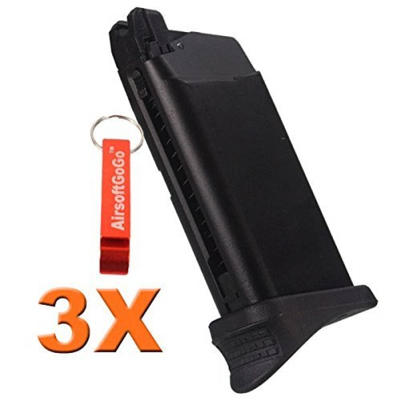 3X WE 15rds Chargeur pour WE Tech G26 G27 Airsoft GBB [pour Airsoft uniquement] de la marque AirsoftGoGo TOP 13 image 0 produit