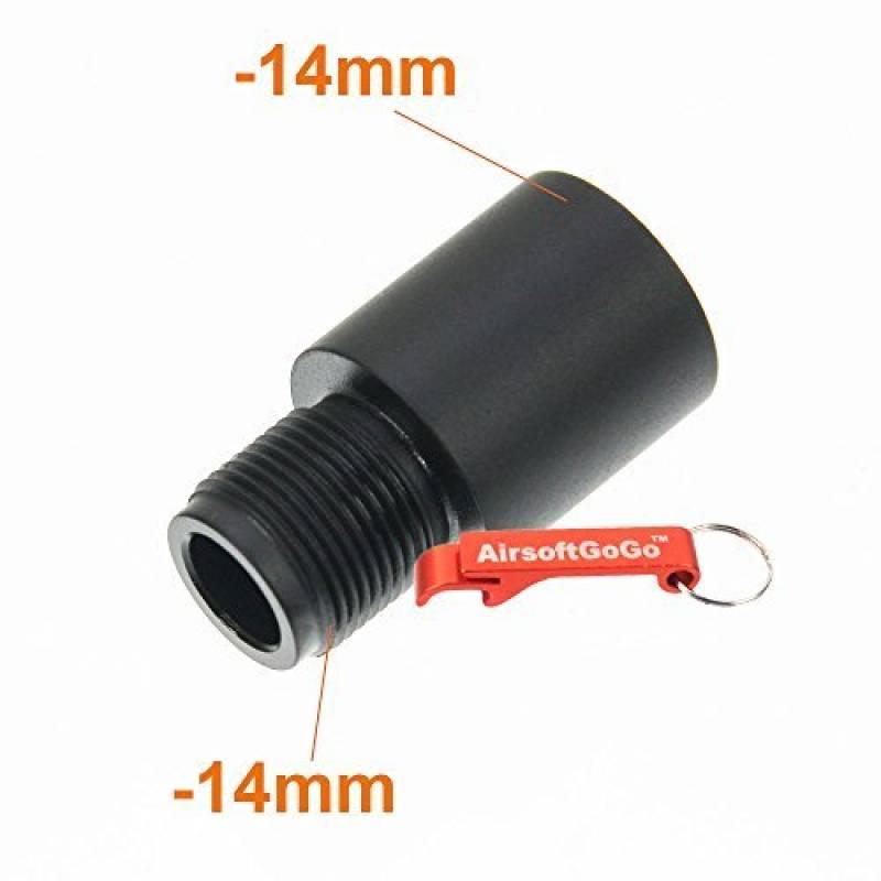 APS Métal Adaptateur de Canon -14mm CCW pour Airsoft AEG GBBR - AirsoftGoGo Porte-clés Inclus de la marque APS TOP 8 image 0 produit