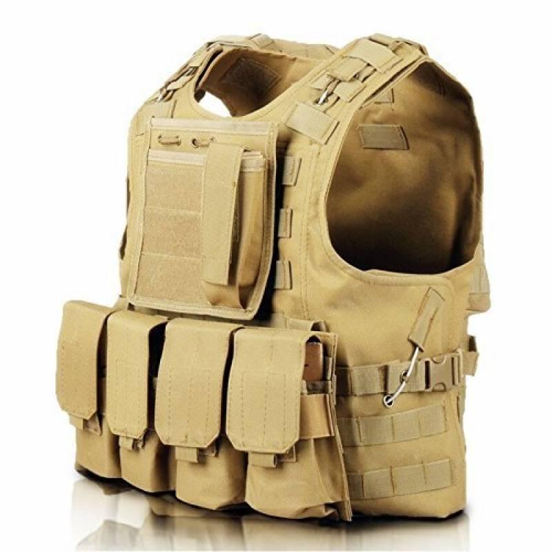 Gilet tactique militaire Cross Draw pour Army Combat Game Jungle et Activités de plein air (Tan) de la marque LIUQU TOP 5 image 0 produit