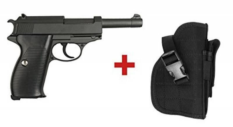 Pack De Noel Cadeau Airsoft Galaxy Type Walther P38 Full Metal à Ressort Full Metal à Ressort / Spring / Rechargement Manuel (0.4 joule) de la marque Galaxy TOP 1 image 0 produit