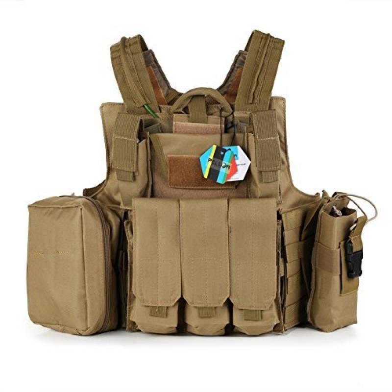 Pellor Gilet Tactique Militaire Airsoft Paintball Chasse Lourde Molle Veste de Protection Combat Police Armé Equipement CS RAS Taille Réglable de la marque Pell TOP 6 image 0 produit