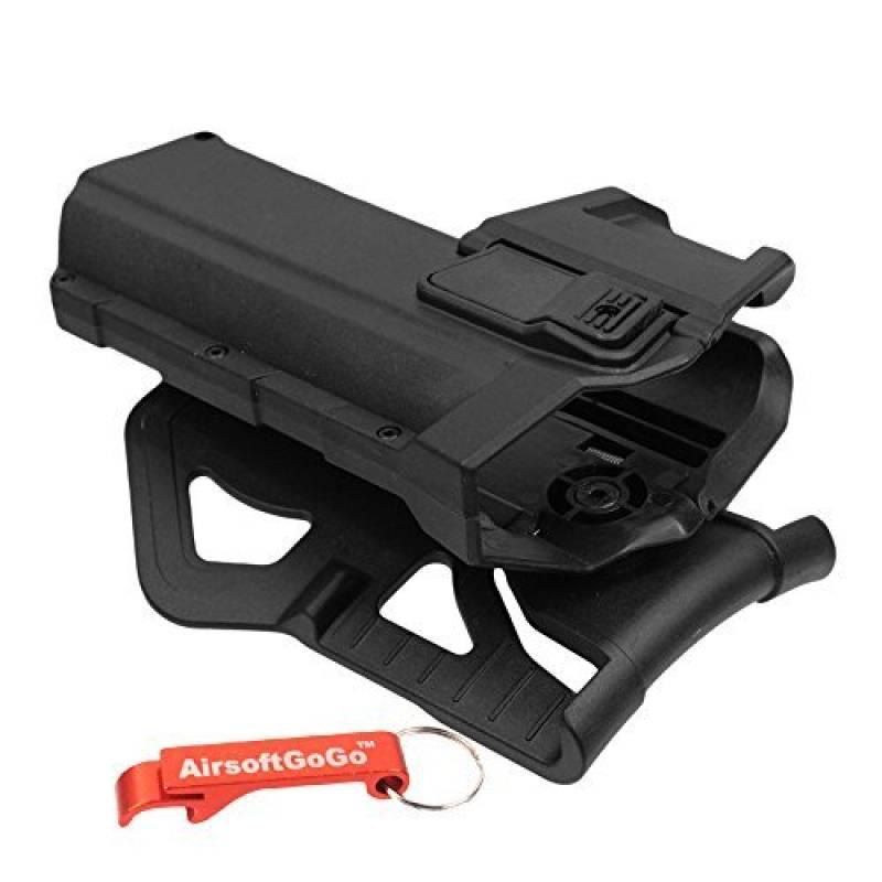 Polymère Hard Case Movable Holsters pour G17/G18/G19 Airsoft GBB (Noir) - AirsoftGoGo Porte-clés Inclus de la marque AirsoftGoGo TOP 8 image 0 produit